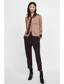 Geometric Print Shirt With Tie  View All Shirts by Zara
