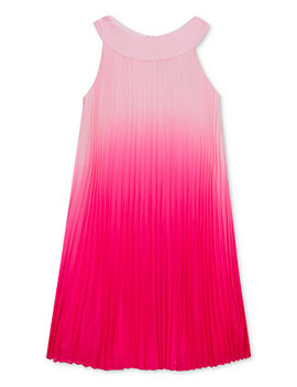 Big Girls Pleated Ombré Chiffon Dress by Rare Editions