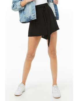 Tie Front Shorts by Forever 21