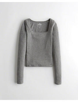 Square Neck Top by Hollister