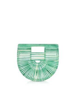 Cult Gaia Seaglass Acrylic Mini Ark Bag by Cult Gaia