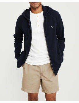 Cashmere Full Zip Hooded Sweater by Abercrombie & Fitch