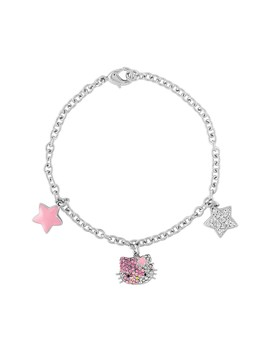 Hello Kitty Sterling Silver 3 Charm Crystal Bracelet by Hello Kitty