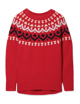 Ivan Fair Isle Merino Wool Blend Sweater by J.Crew