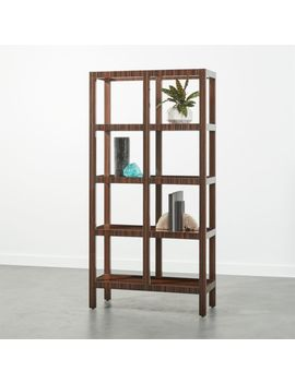 Panes Hi Gloss Wood Bookcase by Crate&Barrel