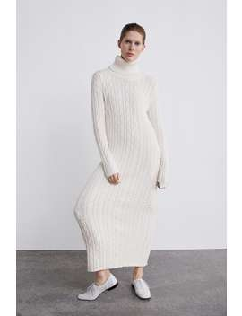 Long Cable Knit Dress  View All Dresses by Zara