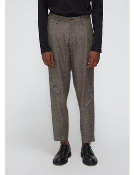 Herringbone Tweed Knee Pocket Trouser by Yohji Yamamoto