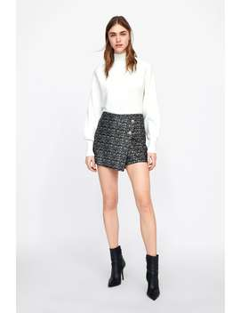 Faux Suede Skort  Skirts by Zara