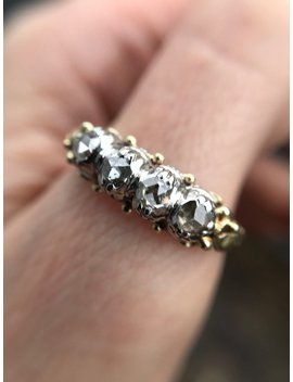 Antique 14k Gold Rose Cut Diamond Band by Etsy
