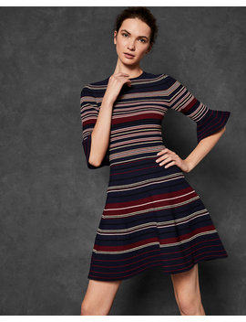 Striped Ottoman Dress by Ted Baker