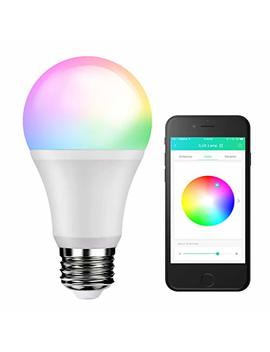 Le A19 E26 Led Smart Light Bulb, 60 W Incandescent Equivalent, Rgbw, Dimmable, 9 W 800lm, Bluetooth Remote Control For I Os And Android, 200° Wide Beam Angle, No Hub Required by Lighting Ever