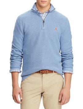 Half Zip Cotton Mesh Sweater by Polo Ralph Lauren