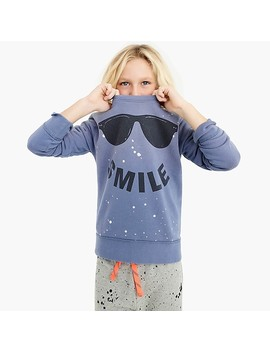 "Kids' ""Smile"" Sweatshirt by J.Crew"
