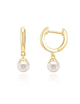 Pavoi 14 K Gold Plated Sterling Silver Post Cubic Zirconia And Pearl Cuff Earrings Huggie Stud by Pavoi