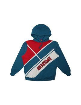 Supreme Diagonal Hooded Sweatshirt Dark Aqua by Stock X