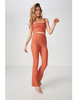 Luxe Set Flared Rib Pant by Cotton On