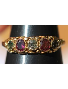Georgian15ct Ruby And Diamond Ring by Etsy