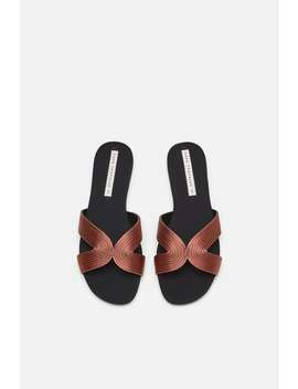Flat Satin Sandals  View All Shoes Woman Sale by Zara