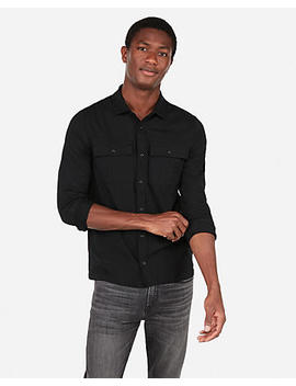Wrinkle Resistant Performance Double Pocket Military Polo by Express