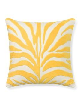 Velvet Applique Zebra Pillow Cover, Sunshine by Williams   Sonoma