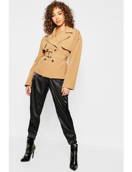 Cropped Trench Jacket by Boohoo