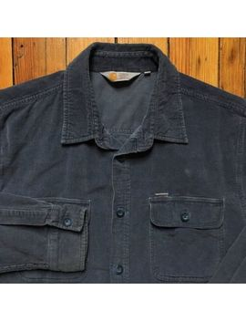 Carhartt Work In Progress Blue Long Sleeve Job Shirt Corduroy Button Front Wip by Carhartt