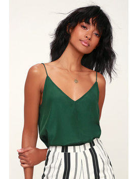 Ekria Dark Green Cami Top by Lulu's