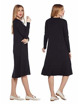 Wuk Ogals Shift Modest A Line Long Sleeve Below The Knee Dress by Wukogals