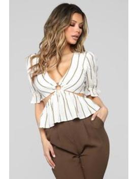 Temptations O Ring Top   White/Combo by Fashion Nova