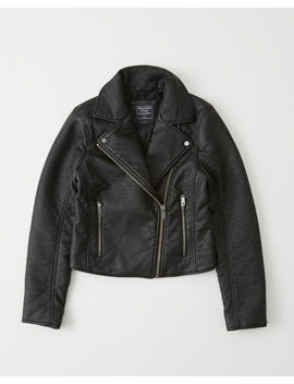 Faux Leather Moto Jacket by Abercrombie & Fitch
