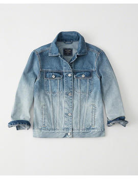 Ombre Girlfriend Denim Jacket by Abercrombie & Fitch