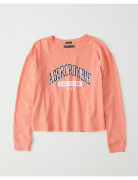 Long Sleeve Print Logo Tee by Abercrombie & Fitch