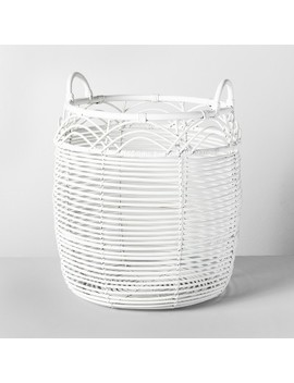 "18"" X 18"" Woven Rattan Basket White   Opalhouse™ by Opalhouse"