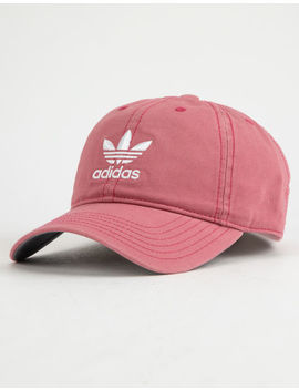 Adidas Originals Relaxed Trace Maroon & White Womens Strapback Hat by Adidas