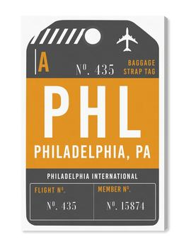 Philadelphia Luggage Tag Wall Art by Oliver Gal