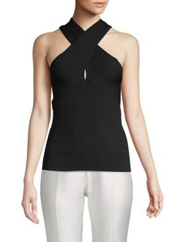 Ribbed Sleeveless Top by Maje