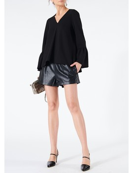 Tissue Leather Pull On Shorts by Tibi