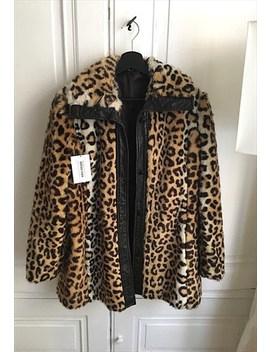 70's Vintage Leopard Faux Fur Coat by Marcel Gracieuse