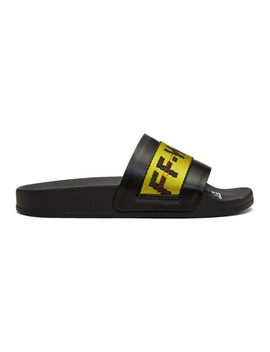 Ssense Exclusive Black Industrial Pool Slides by Off White