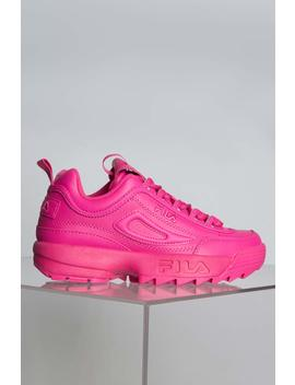 Fila Womens Disruptor Ii In Fuchsia Hot Pink by Akira