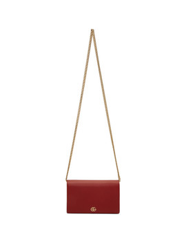 Red Mini Gg Marmont Chain Bag by Gucci