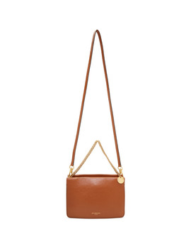 Brown Cross 3 Double Pochette Bag by Givenchy