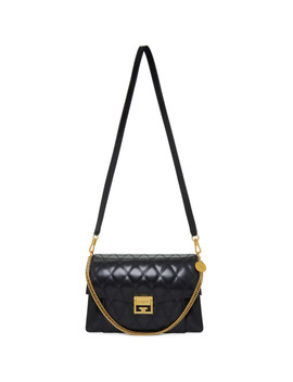 Black Quilted Medium Gv3 Bag by Givenchy