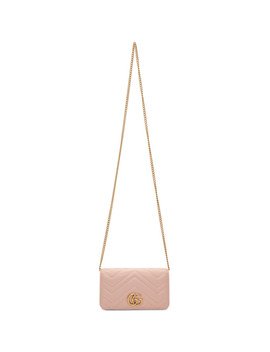 Pink Quilted Marmont 2.0 Bag by Gucci