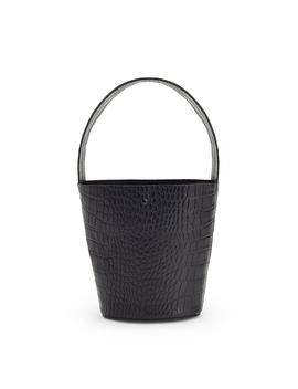 Croc Embossed Wide Strap Mini Bucket Bag by Cuyana