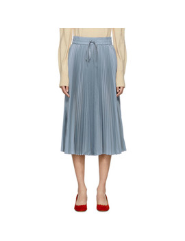 Blue Pleated Skirt by Red Valentino