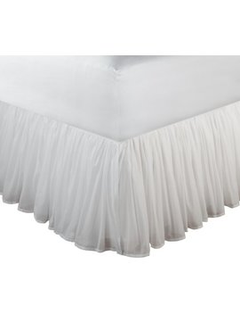 Greenland Home Fashions Cotton Voile 18 Inch White Bed Skirt, King by Greenland Home