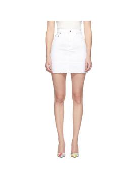 White Denim Miniskirt by Msgm