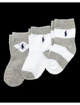 Cotton Terry Sock 3 Pack by Ralph Lauren