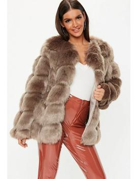 Mink Bubble Faux Fur Coat by Missguided